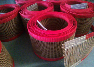 ประเทศจีน PTFE polyester mesh fabric , PTFE polyester mesh fabric for conveyor belt / griddling cloth, made by PTFE coated ผู้ผลิต